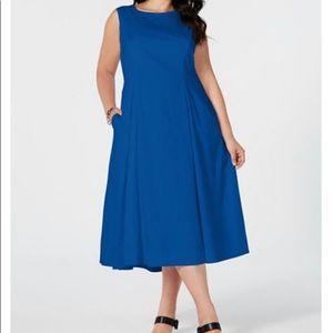 Alfani Plus Size 16W  Sleeveless A-Line Midi Dress